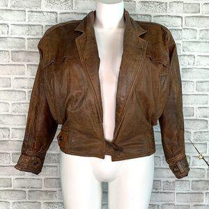 Vintage Adventure Bound Leather Bomber Jacket